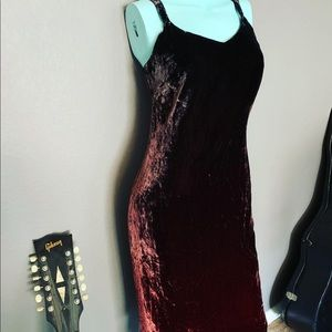 Loft Ann Taylor Crushed Velvet Ombré Dress 4P